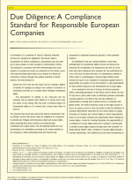 Due Diligence: A Compliance Standard for European Companies