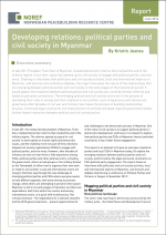 Developing relations: political parties and civil society in Myanmar